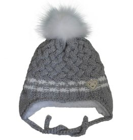 CaliKids FA20 Grey Heart Knit Hat