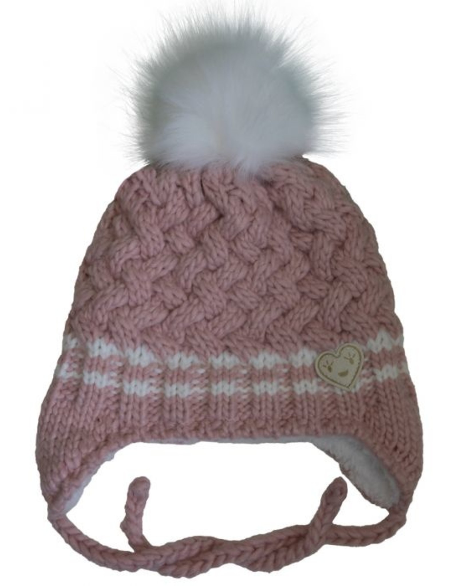 CaliKids FA20 Pink Heart Knit Hat