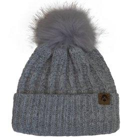 CaliKids FA20 Grey Pom Knit Hat