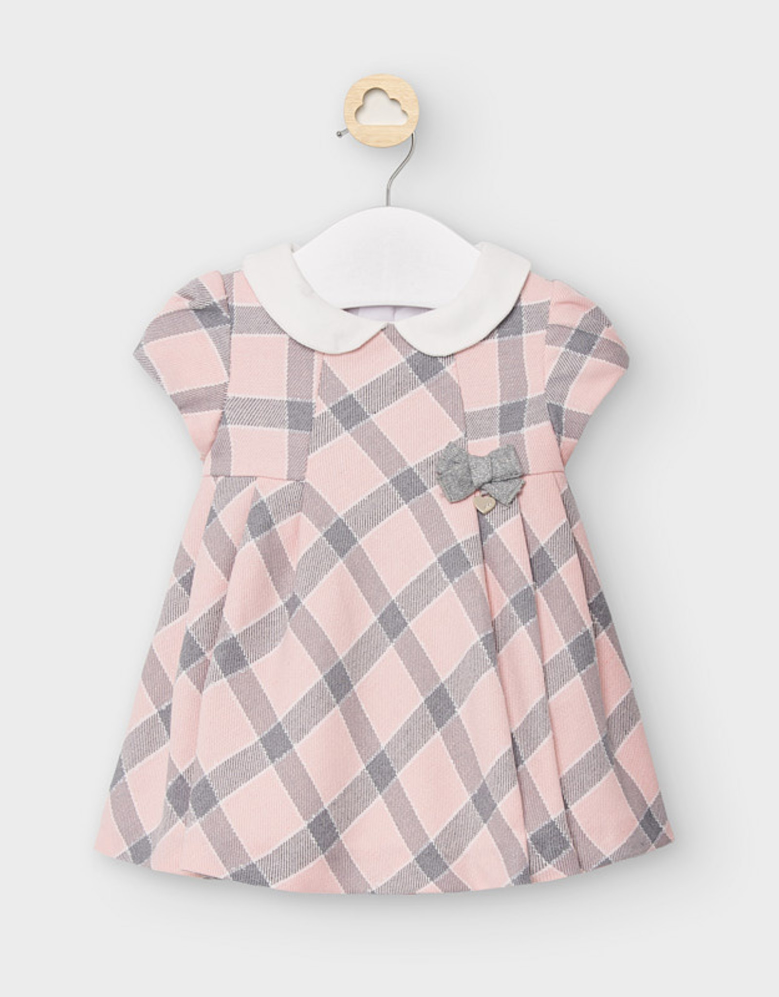 Mayoral FA20 Baby Pink Gingham dress