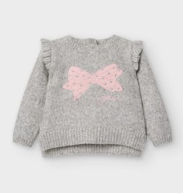 Mayoral FA20 Grey Sweater w/Bow