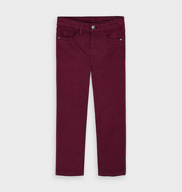 Mayoral FA20 Burgundy Slim Fit Jeans