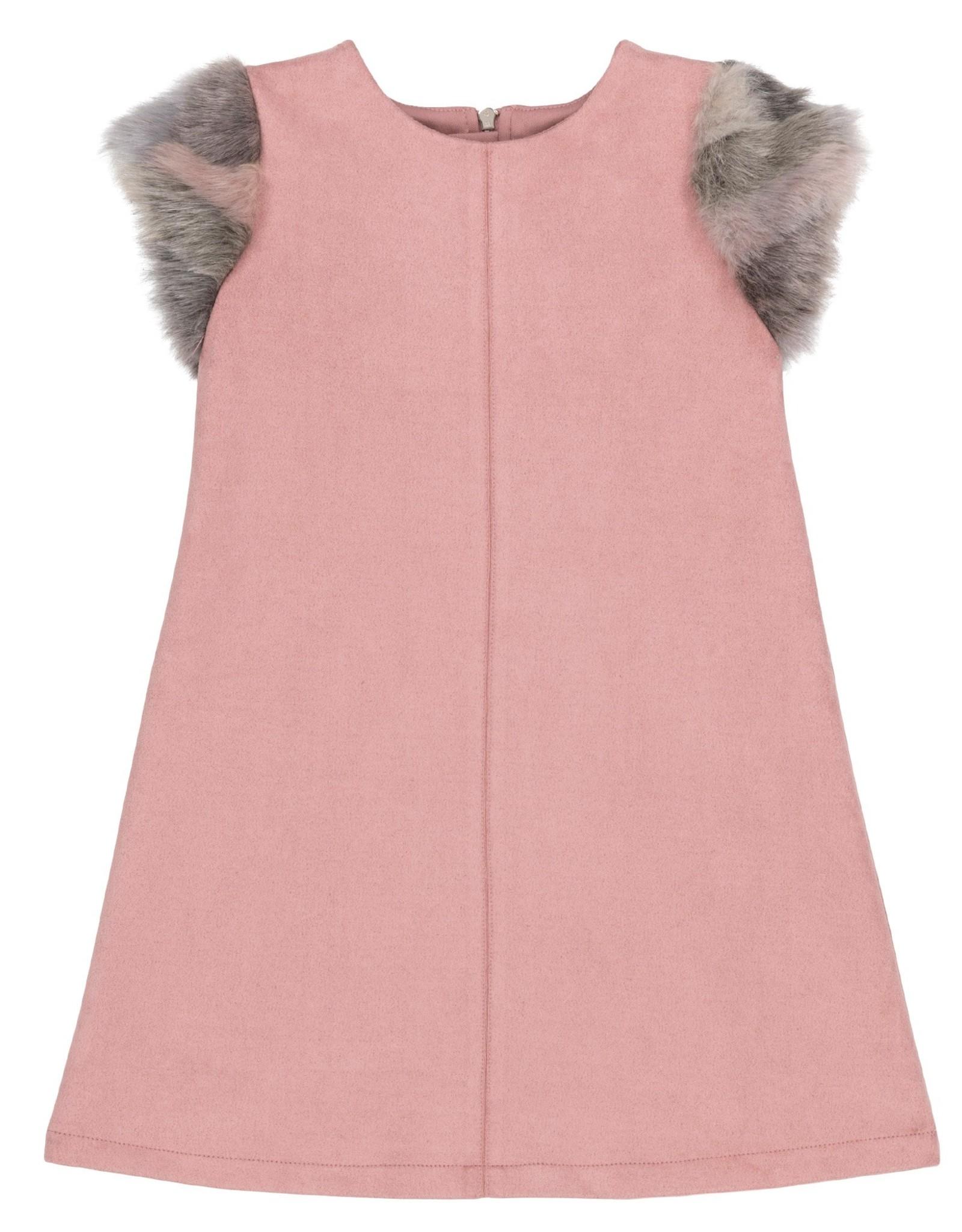 DeuxParDeux FA20 Pink Faux Suede Dress