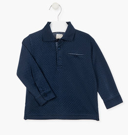 Losan FA20 Boys Long Sleeve Navy Polo