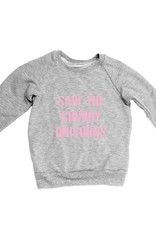 Portage & Main Save Chubby Unicorn sweatshirt