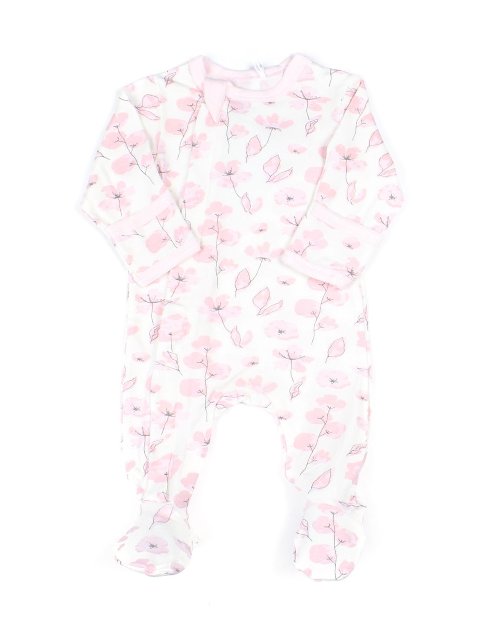 FA20 Pink Floral Footie Sleeper