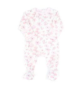 FA20 Pink Floral Footie Sleeper