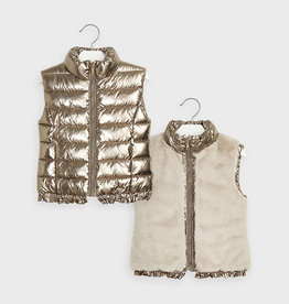 Mayoral FA20 Girl's Reversable Gold vest