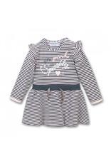 Dirkje FA20 Pink/Grey Striped Dress