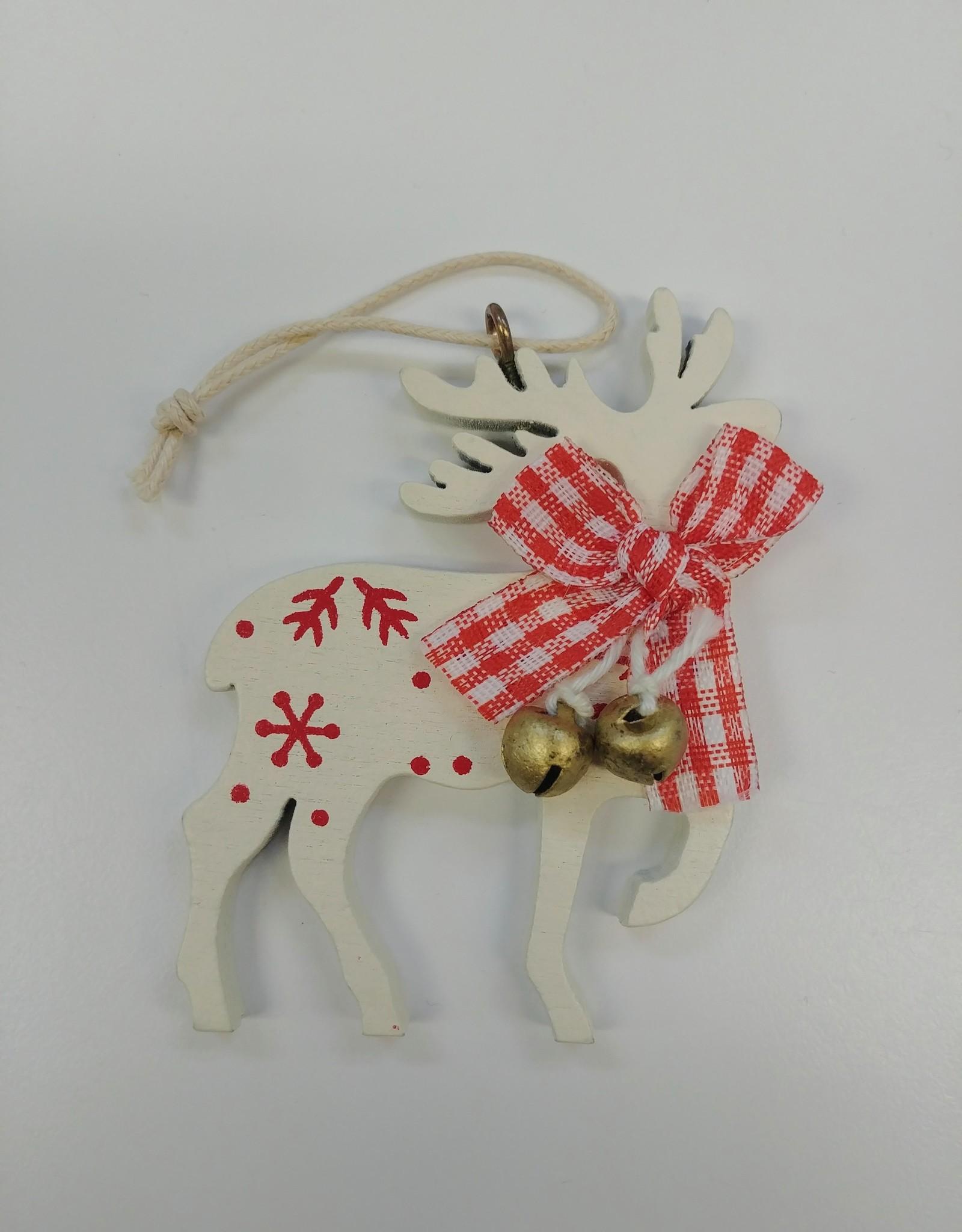 C&F Home White Reindeer Ornament