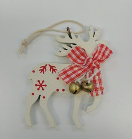 C&F Home White Reindeer Ornament