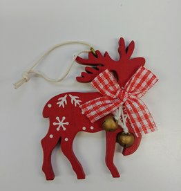 C&F Home Red Reindeer Ornament