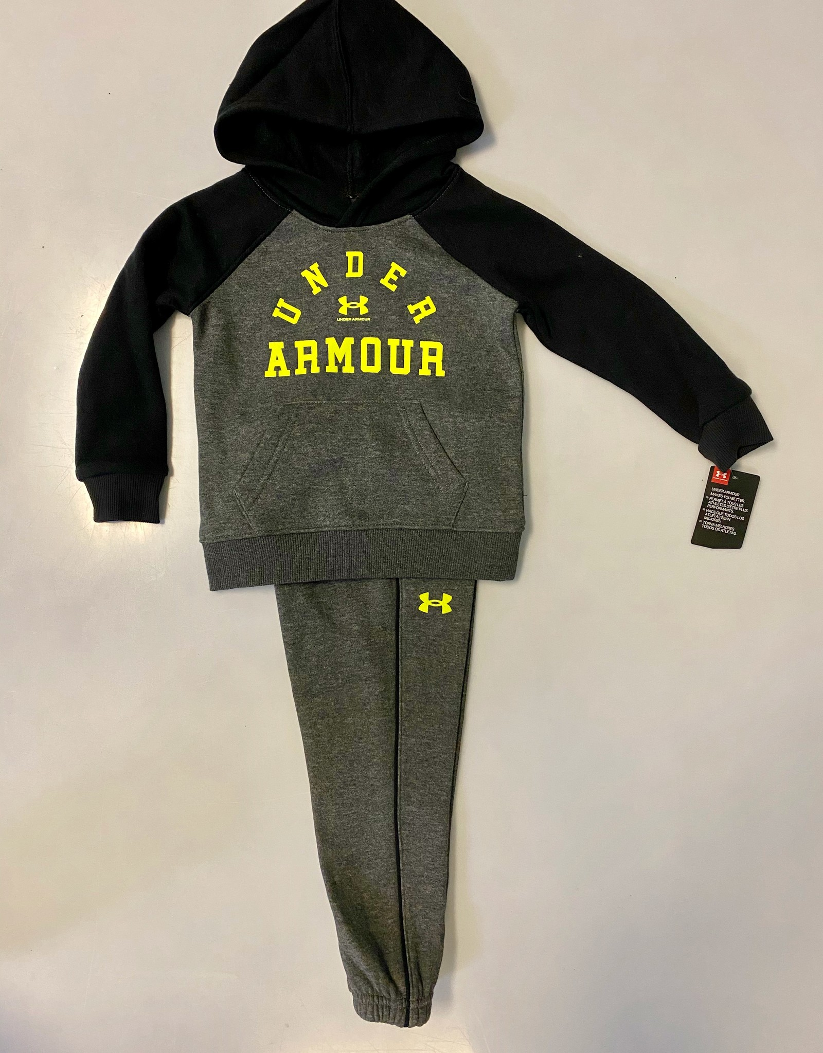 Under Armour FA20 Raglan Hoodie Track Set Blk/ gry