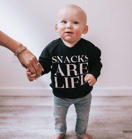 Posh & Cozy Baby Snacks Crew Black
