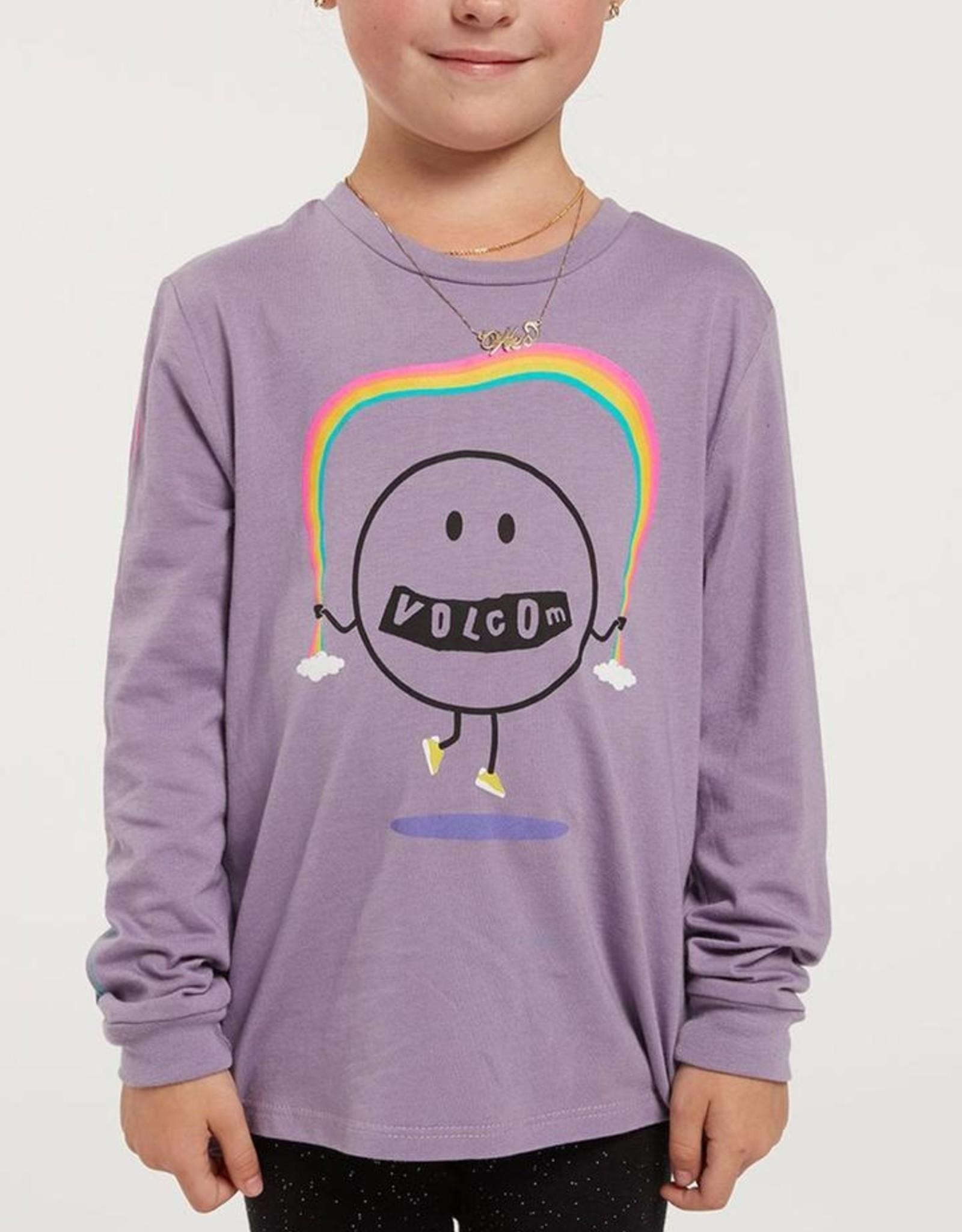 Volcom FA20 Girl's Made from Stoke - Long Sleeve Purple