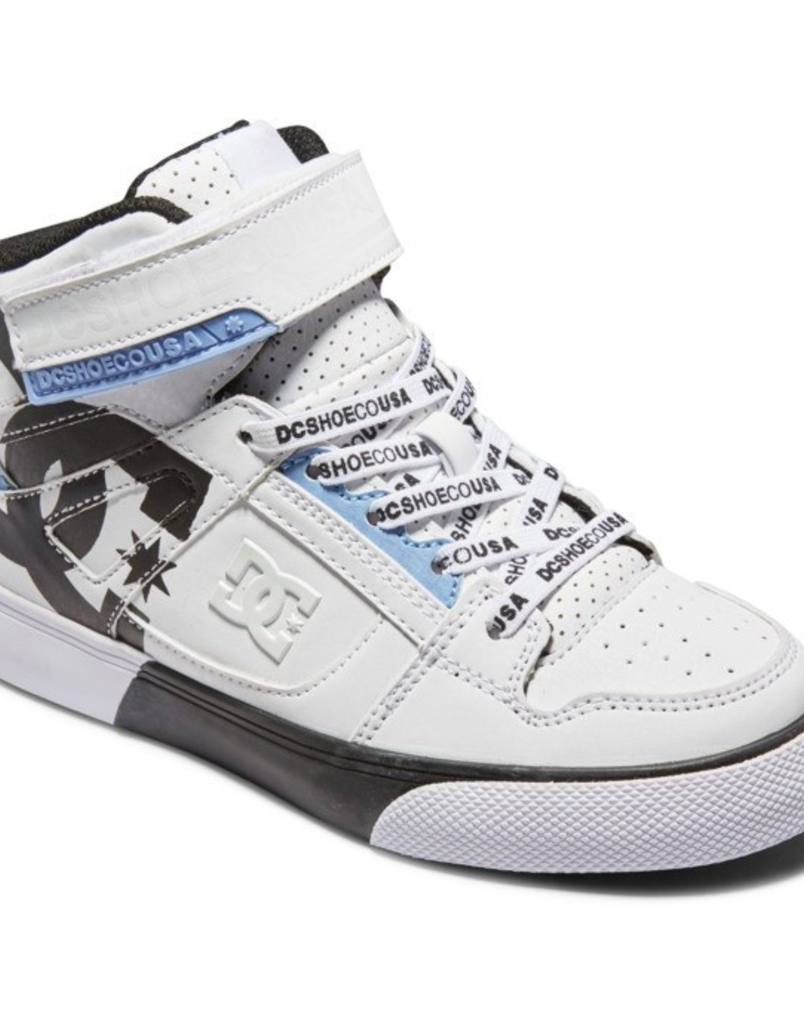 DC SP21 Yth Pure High-Top SE EV Wht/Blk