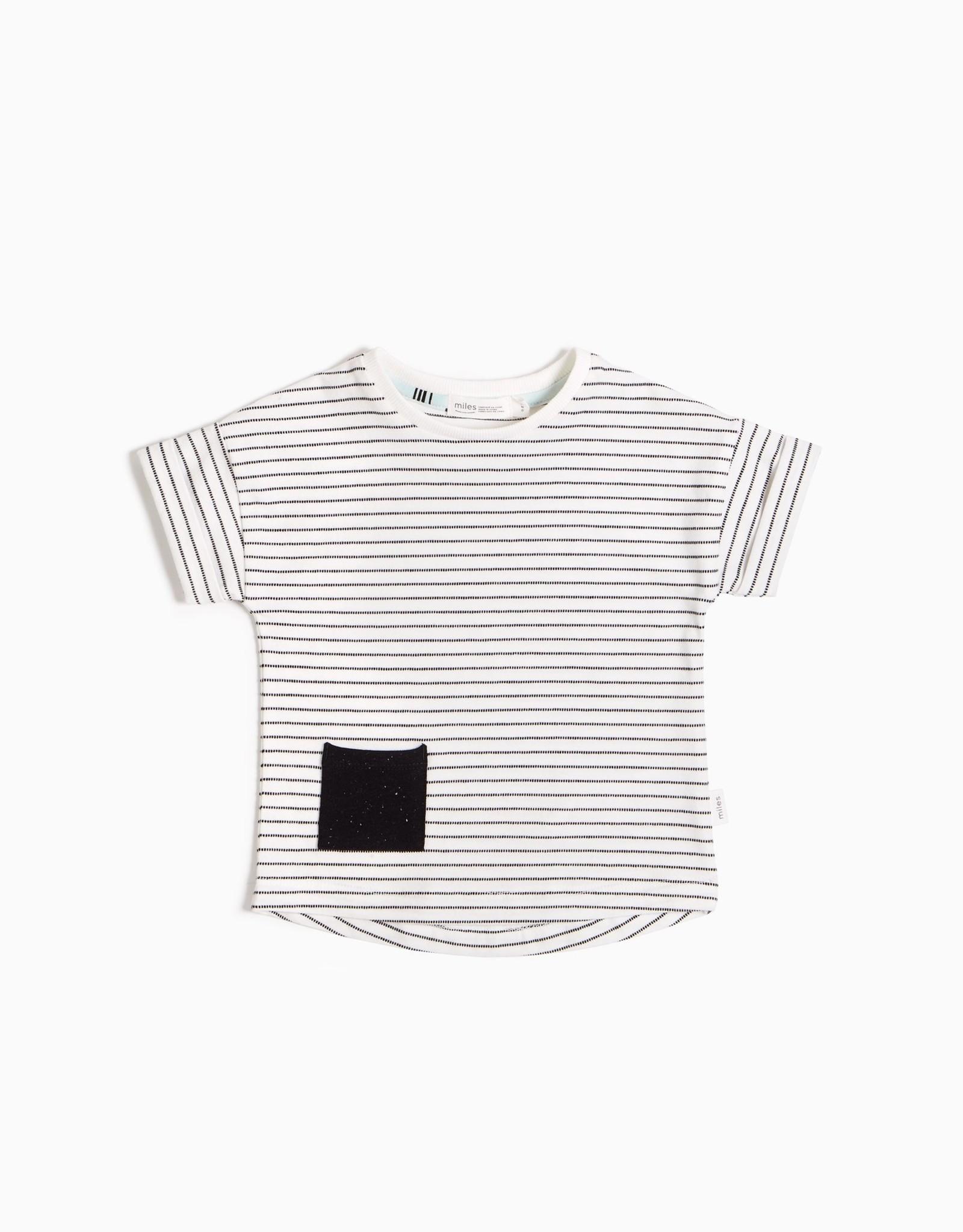 Miles SP21 B Stripe Tee w/ Pocket