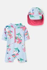 Joules SP21 Bby Swim set Blu/Floral