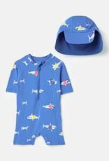 Joules SP21 Bby Swim Set Blu/sharks