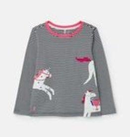 Joules SP21 Girl's Navy Horse Shirt