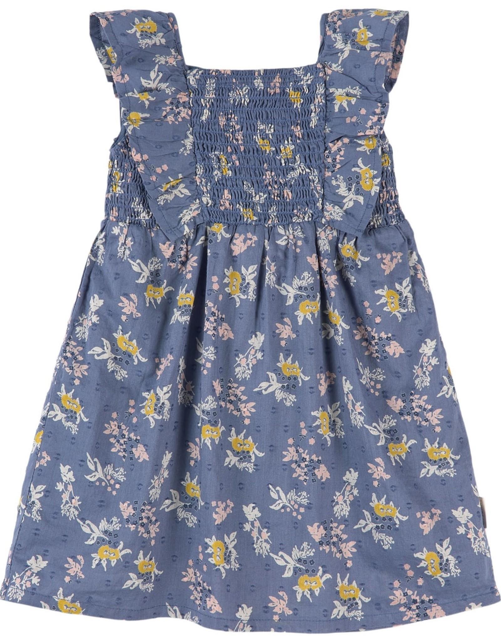 Creamie SP21 G Blu Floral dress
