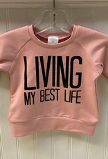 Posh & Cozy SP21 Living My Best Life Crewneck - Black or Strawberry