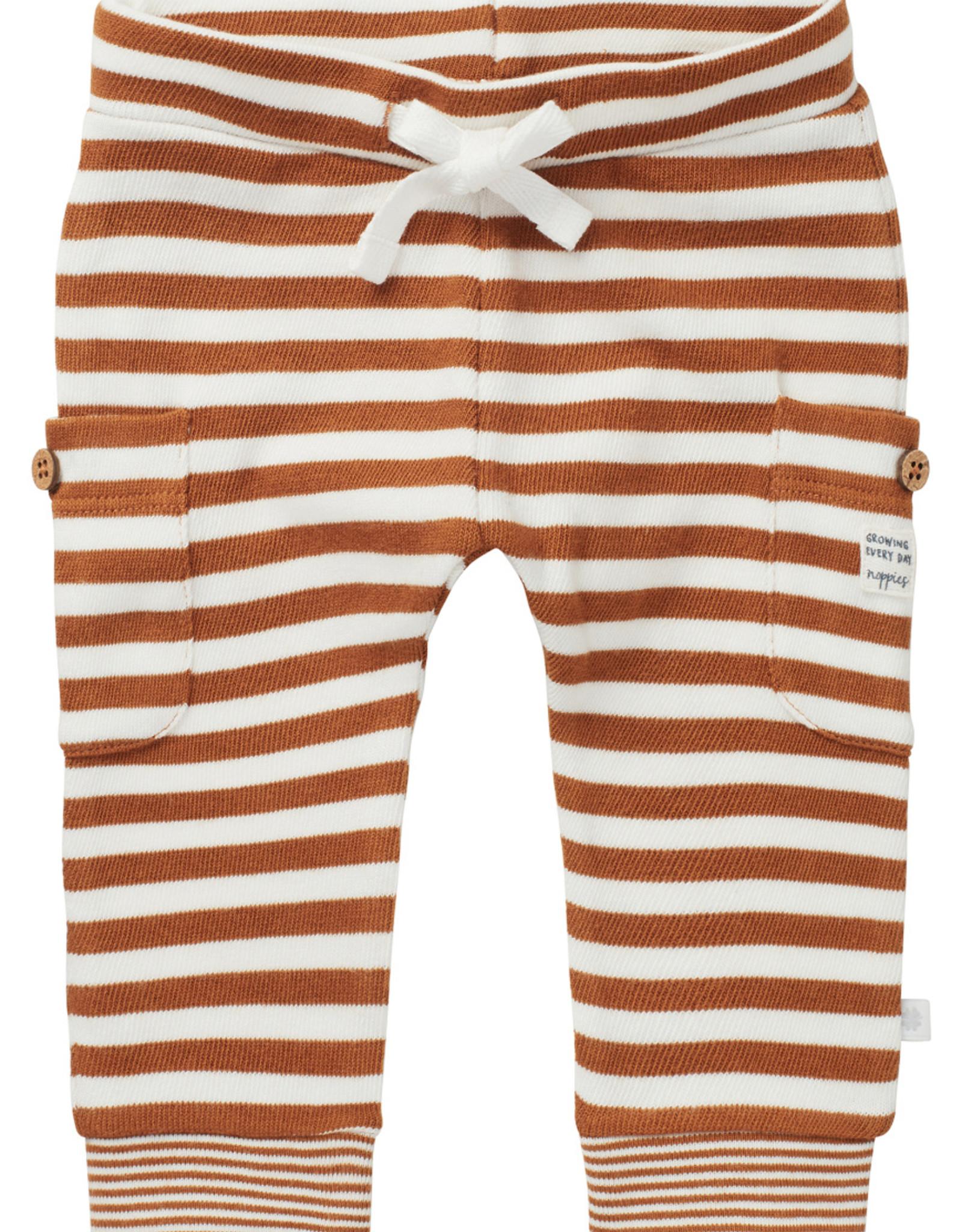 Noppies SP21 Bby Brown Stripe Reg Fit Pants