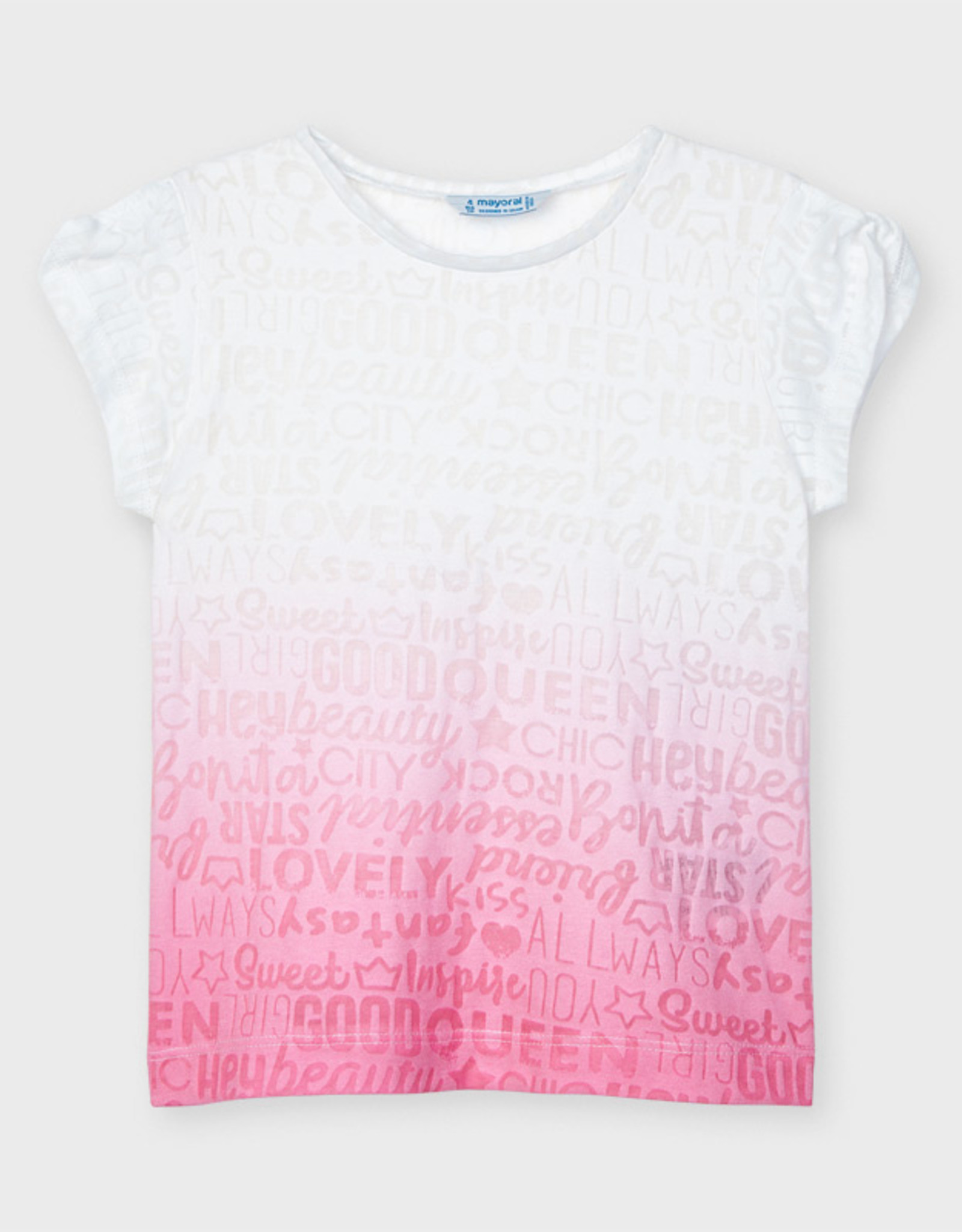 Mayoral SP21 G Pink/White Ombre Tee