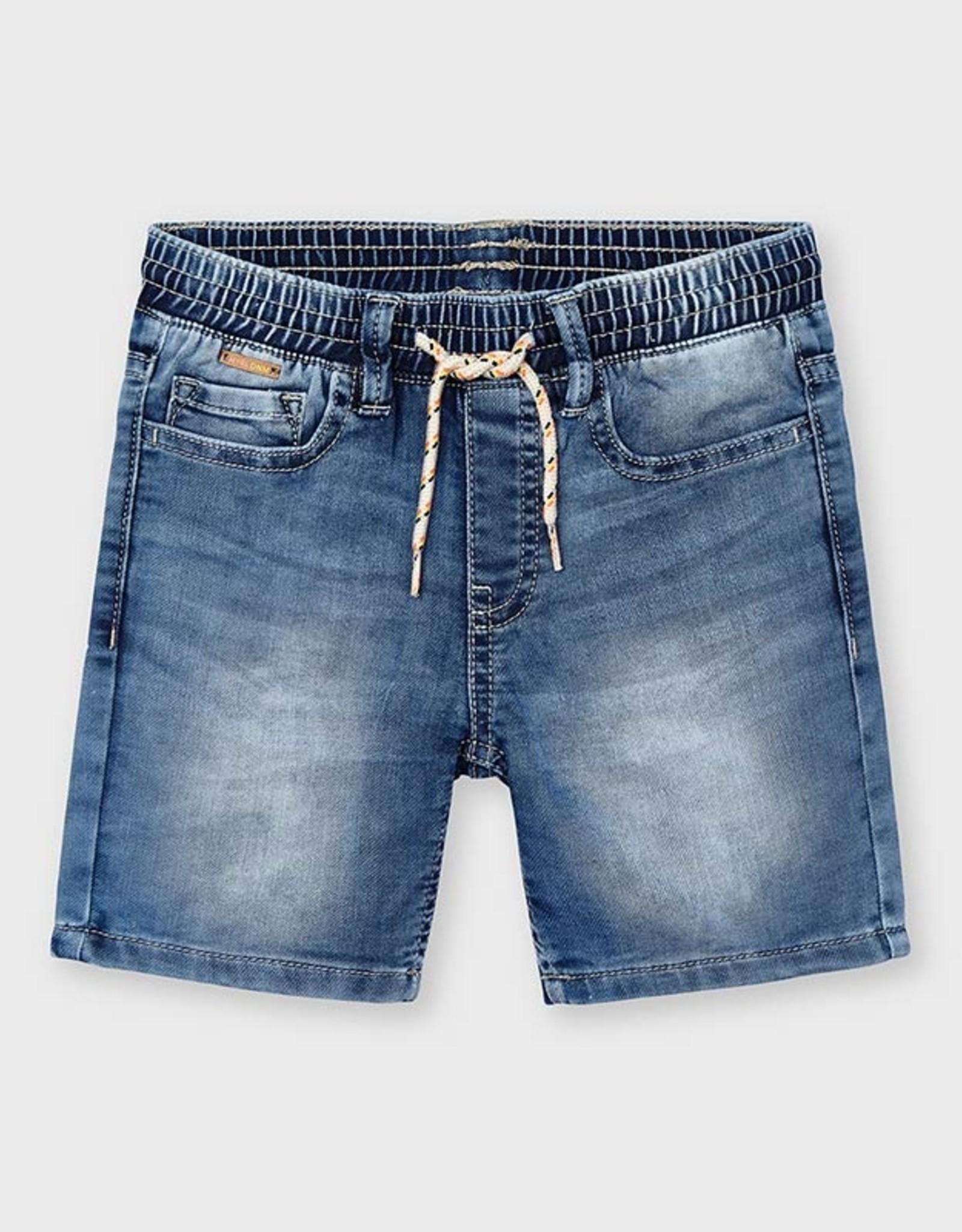 Mayoral SP21 B Soft Denim Bermuda Shorts