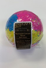 Pink Bubble Bath Co Flourscent Unicorn Round  BathBomb