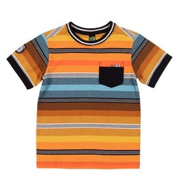 Nano SP21 B Orange Striped T-Shirt