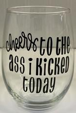 Cheers My Dears Cheers Stemless Wine Glass