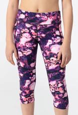 SP21 G Purple Print Capri Leggings
