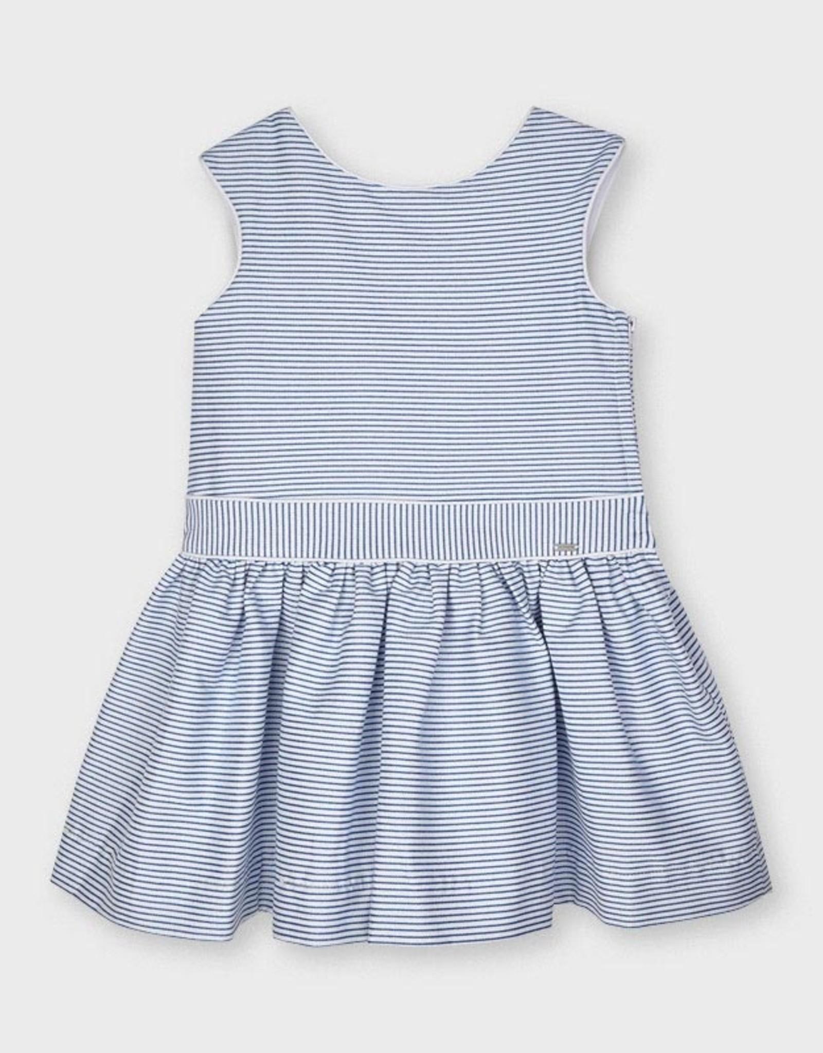 Mayoral SP21 G Blue Striped Dress
