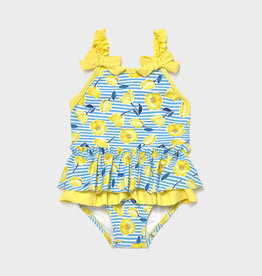 Mayoral SP21 BbyG Yellow Ruffle Swimsuit