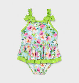 Mayoral SP21 BbyG Green Ruffle Swimsuit