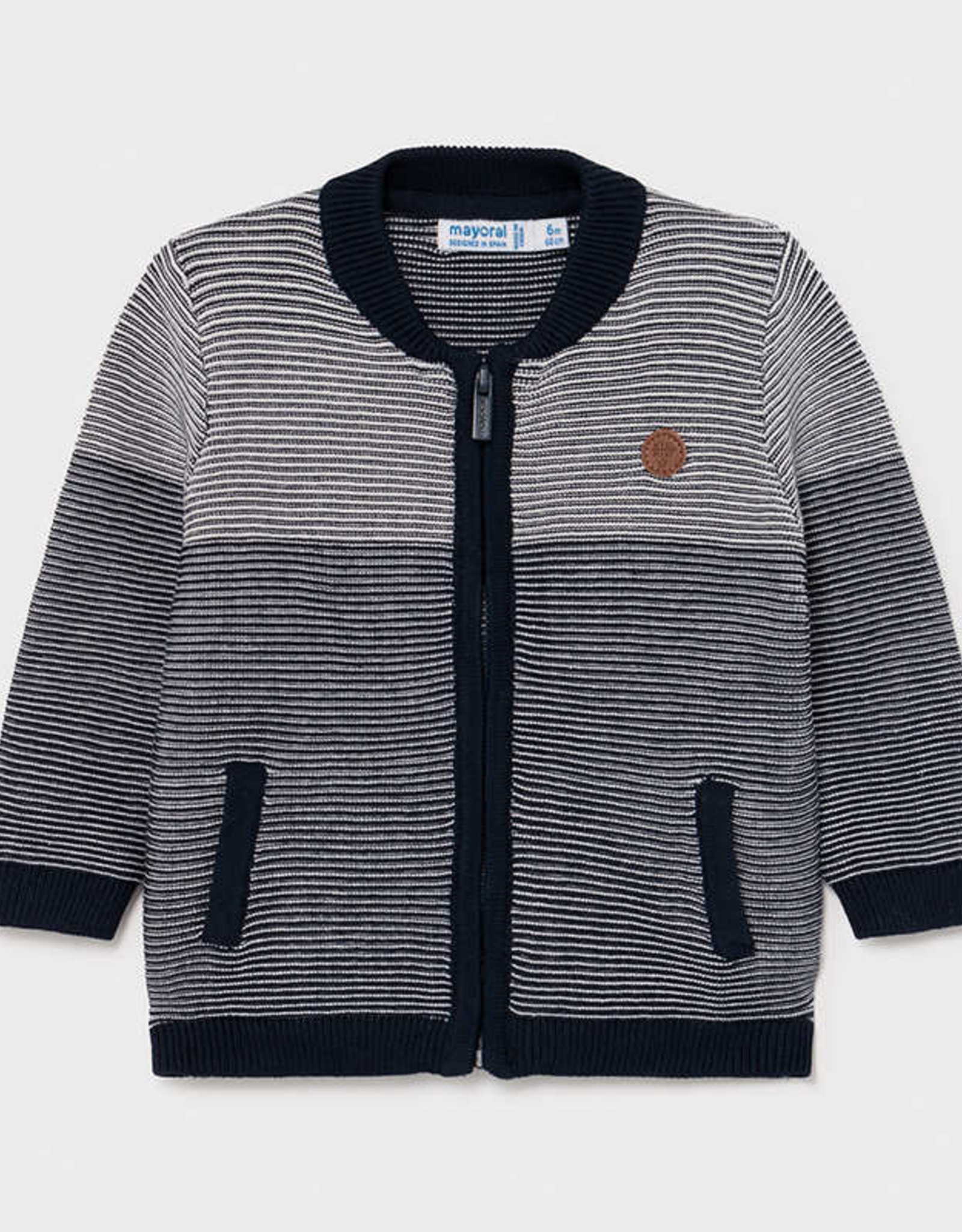 Mayoral SP21 BbyB Navy Zip Sweater