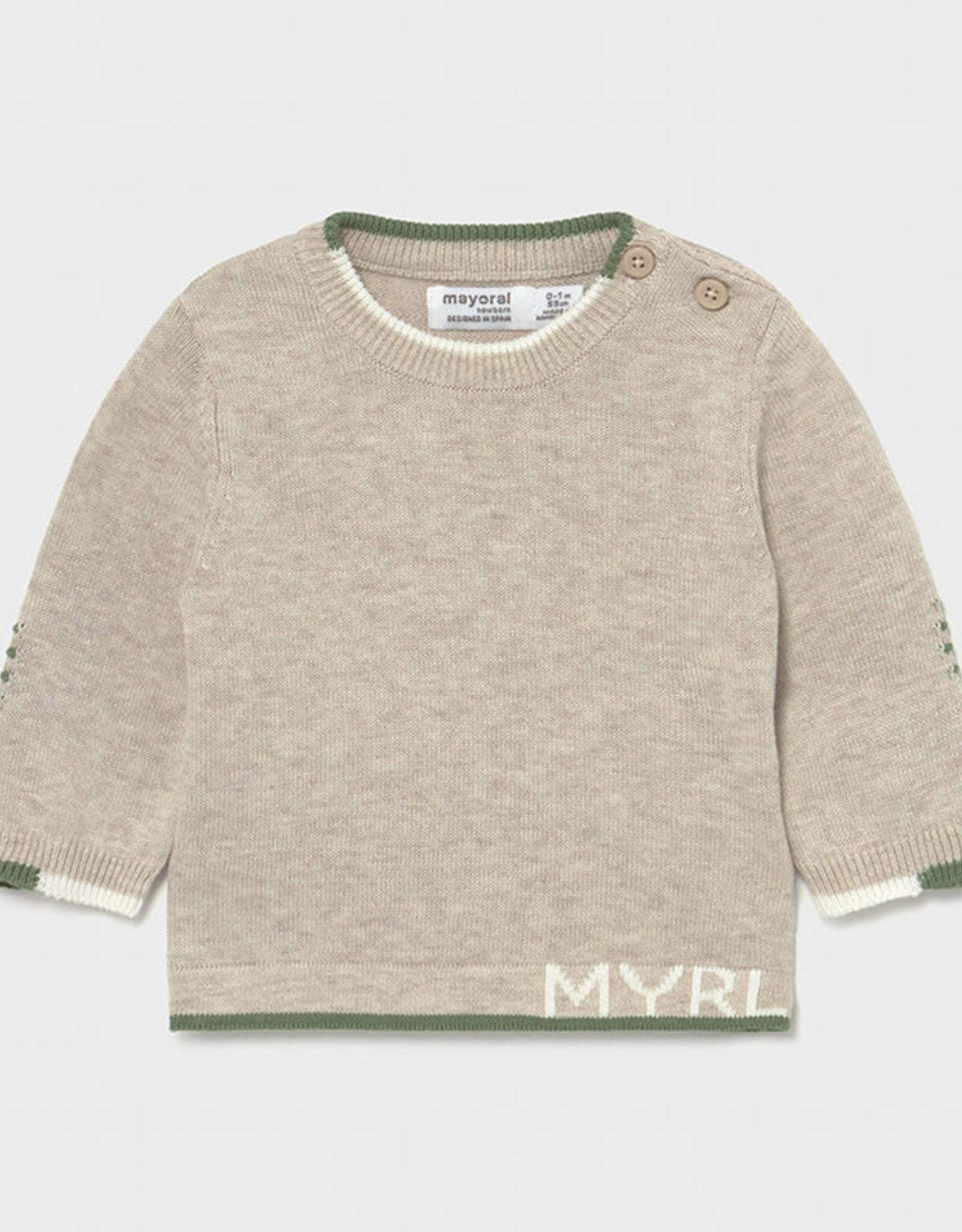 Mayoral SP21 BbyB Tan Sweater