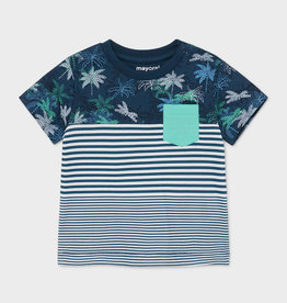 Mayoral SP21 BbyB Navy Striped Palm Tee