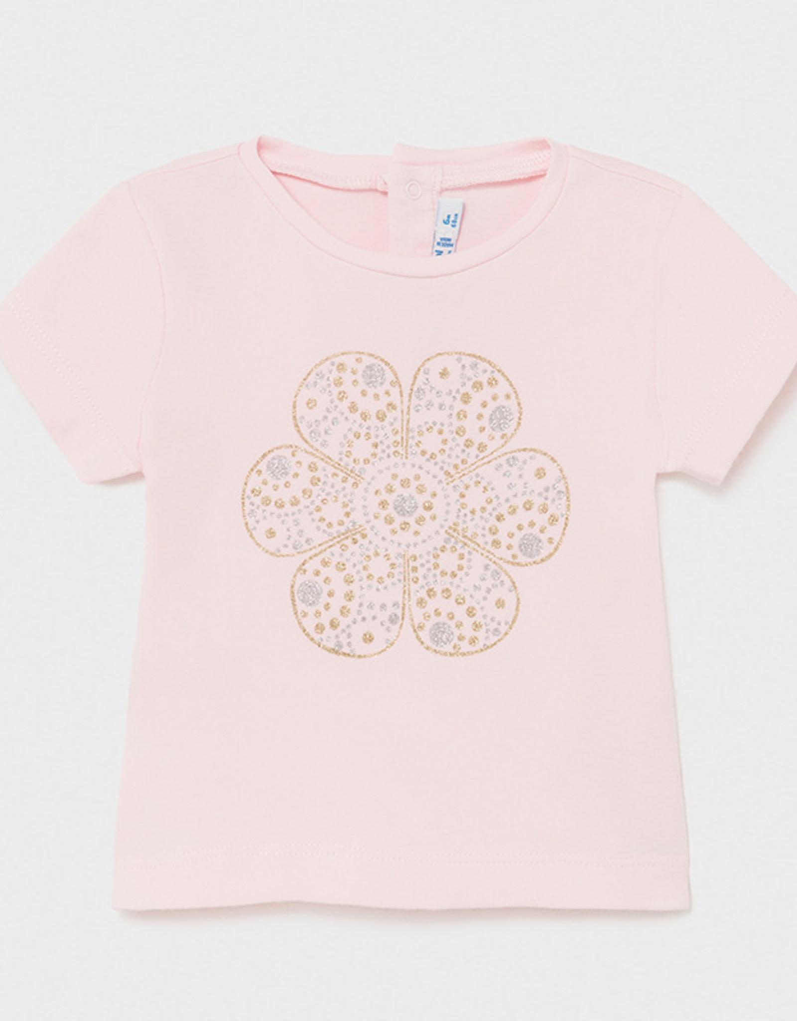 Mayoral SP21 BbyG Pink Flower T-Shirt