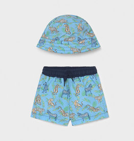 Mayoral SP21 BbyB Blue SwimTrunks & Hat