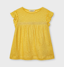 Mayoral SP21 G Yellow Linen Top
