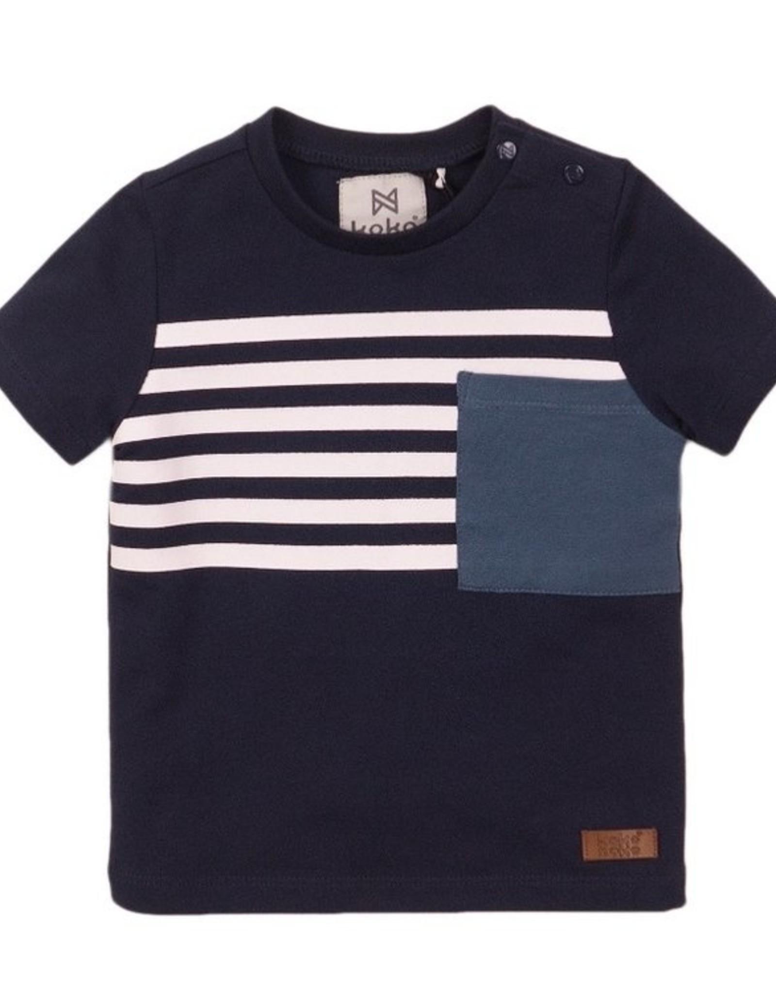 Koko Noko SP21 B Navy Stripe T-Shirt
