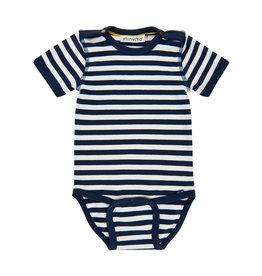 MinyMo SP21 BbyB Blue Stripe Onesie