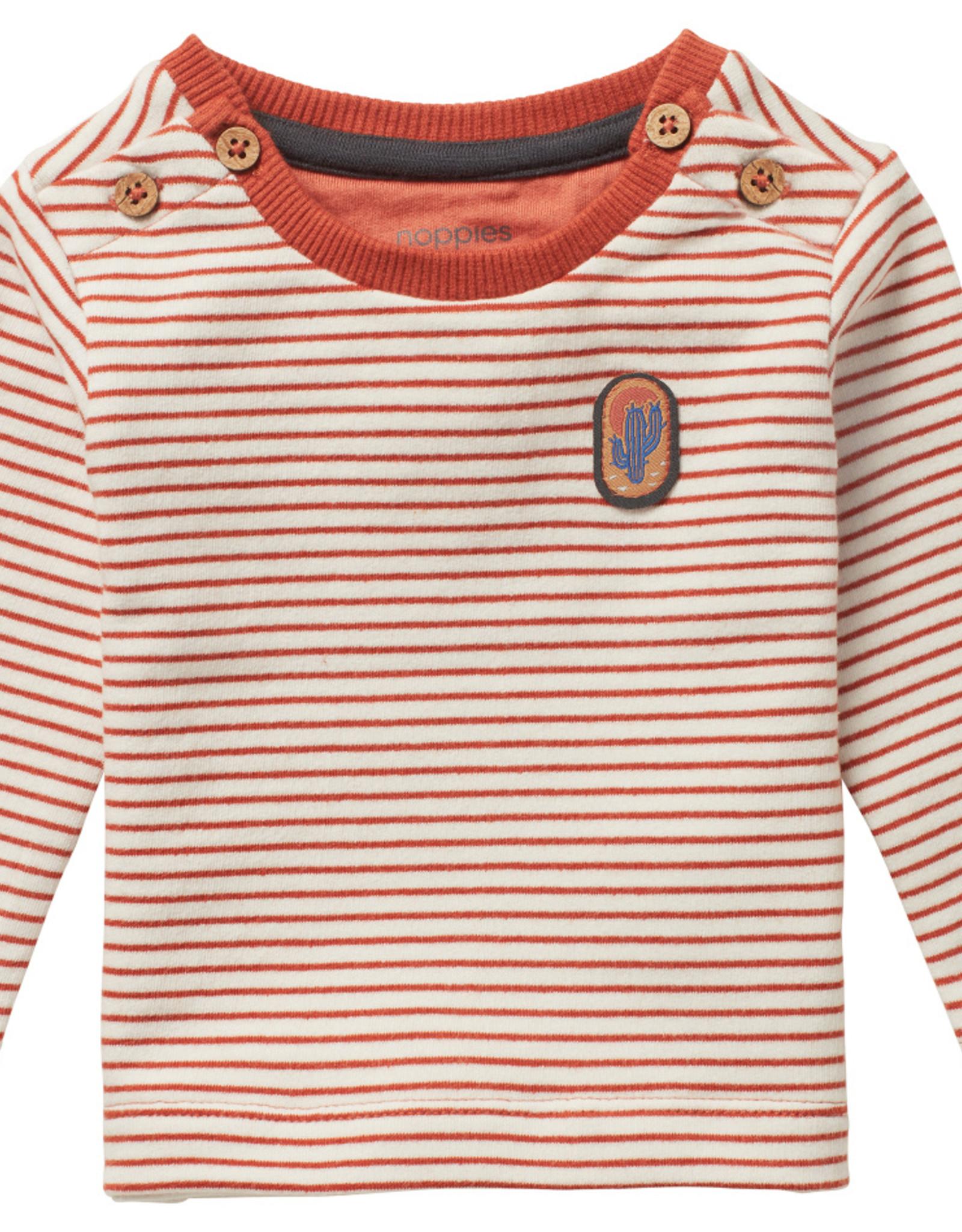 Noppies SP21 Bby B Sand Stripe T-shirt