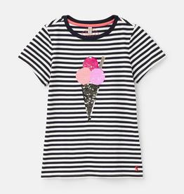 Joules SP21 G Ice Cream Sequin T-Shirt