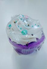 Pink Bubble Bath Co Purple Cupcake Bomb