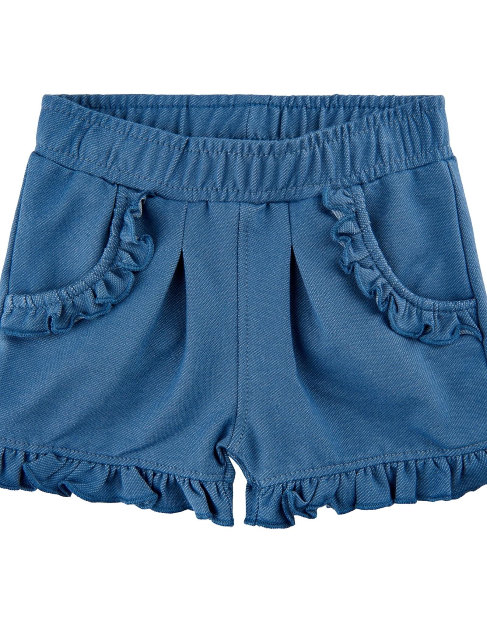 MinyMo SP21 BbyG Blue Ruffle Shorts