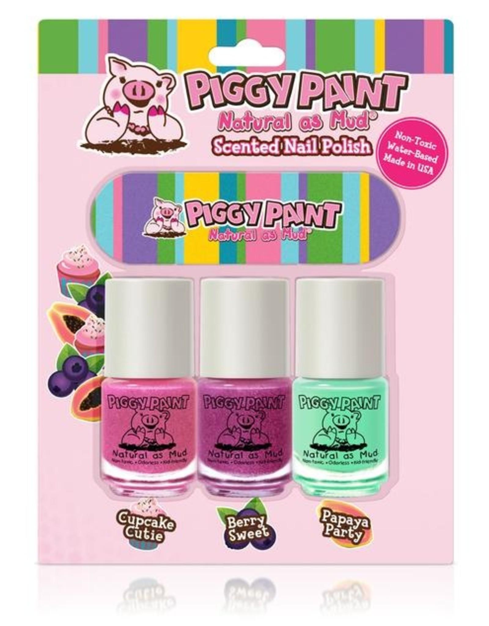 Piggy Paint Scented 3pk w/File