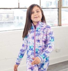 Jill Yoga F21 Yoga Jacket Purple Print